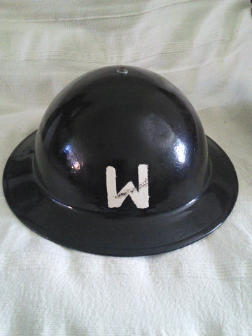 Original WW2 British helmet for Air Raid Warden, dated 1940