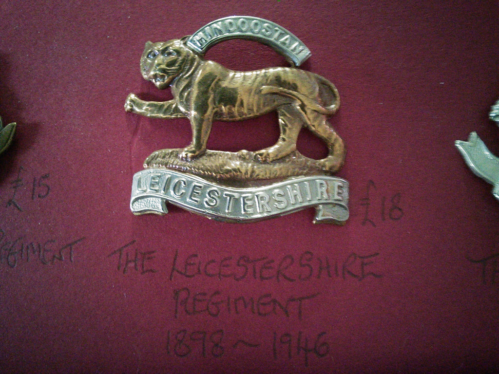 The Leicestershire Regiment original cap badge