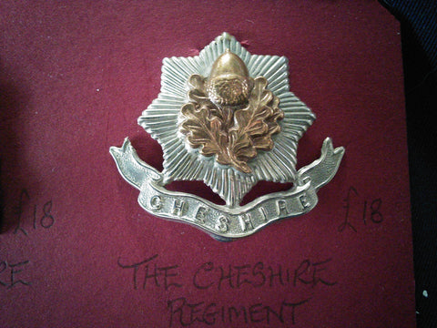 The Cheshire Regiment original cap badge