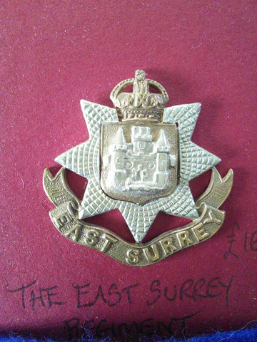 East Surrey Regiment original cap badge