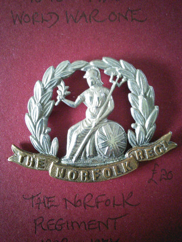 The Norfolk Regiment original cap badge
