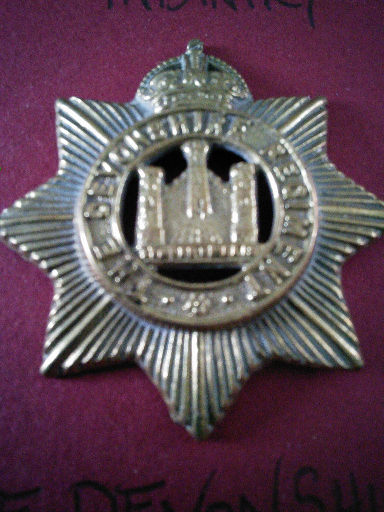 Original cap badge The Devonshire Regiment
