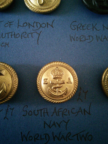 WW2 Button South African Navy
