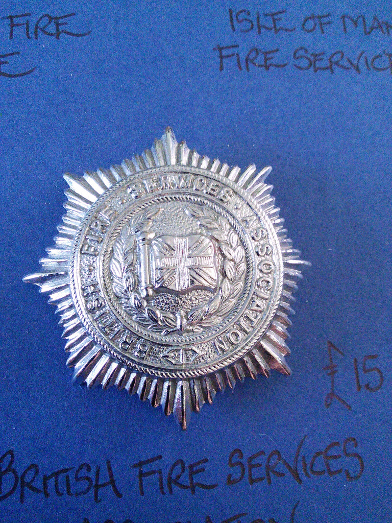 Vintage British Fire Services Association cap badge