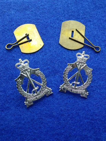 Original pair of Royal Pioneer Corps collar badges