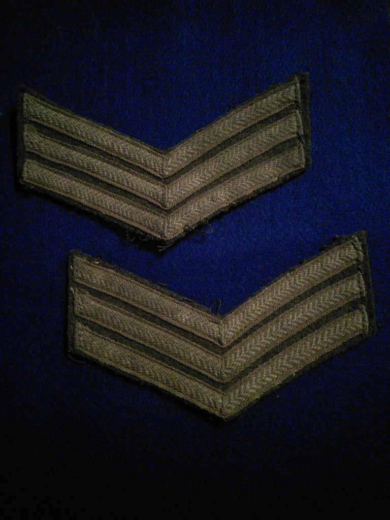 Original pair of British Army sergeants stripes, WW2