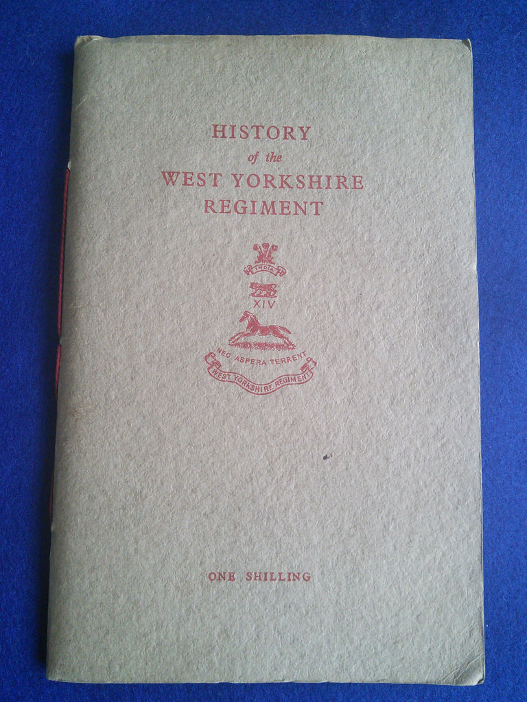 Original booklet History of the West Yorkshire Regiment