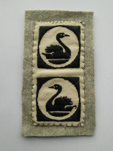 Original pair of cloth formation insignia, British 51st Independent Infantry Brigade