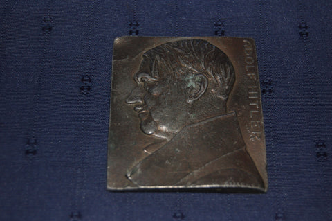 Bronze wall plaque of Adolf Hitler