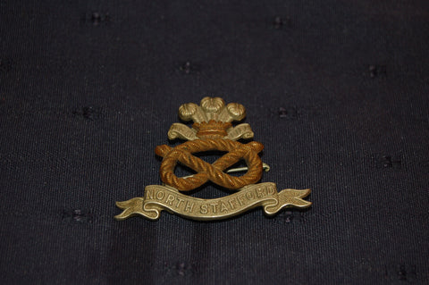 North Stafford Cap Badge / Pin Brooch