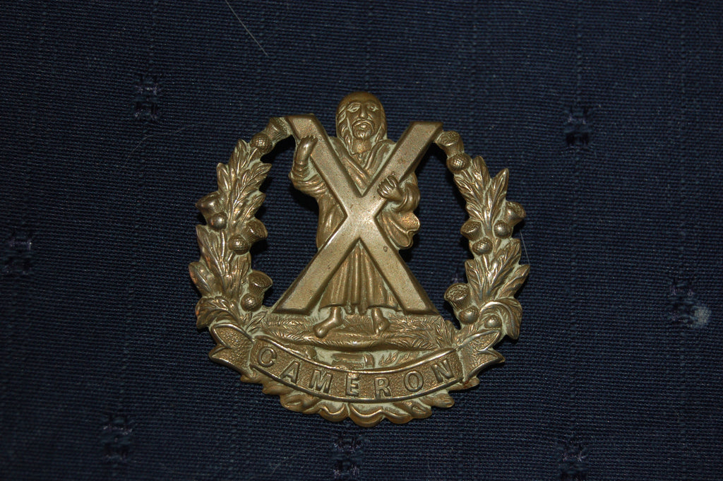 The Queen's Own Cameron Highlanders cap badge, WWI - WWII