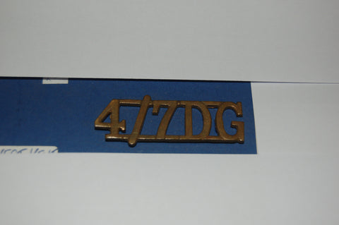 Shoulder Title 4th/7th Dragoon Guards