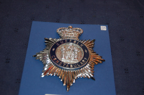 Suffolk Constabulary Helmet Badge
