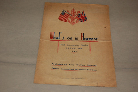 """What's on in Florence"", 12th August 1945"