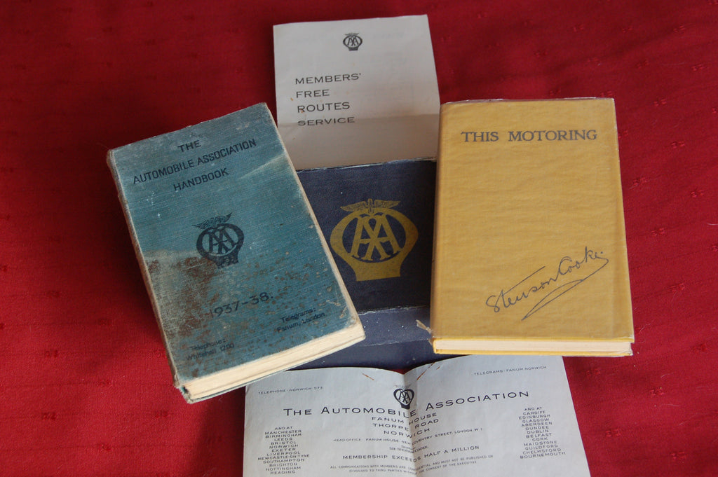 Membership Pack from the Automobile Association, 1937-38