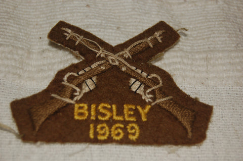 Cloth patch award for Bisley Rifle Marksmanship 1969