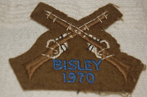 Cloth badge award for Bisley 1970