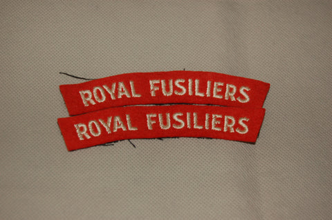 Royal Fusiliers cloth shoulder titles