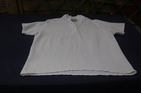 WLA Aertex White Short Sleeved Top, circa 1980s