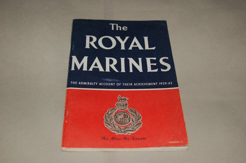 The Royal Marines. Original WW2 HMSO Booklet