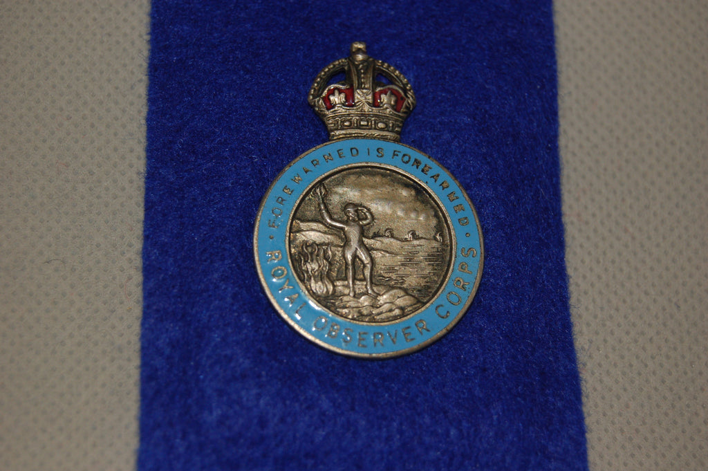 Royal Observer Corps Lapel Badge, WW2