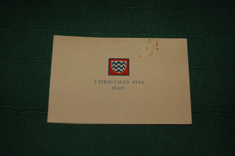 Christmas Card, 1944, Italy, 15th Army Group