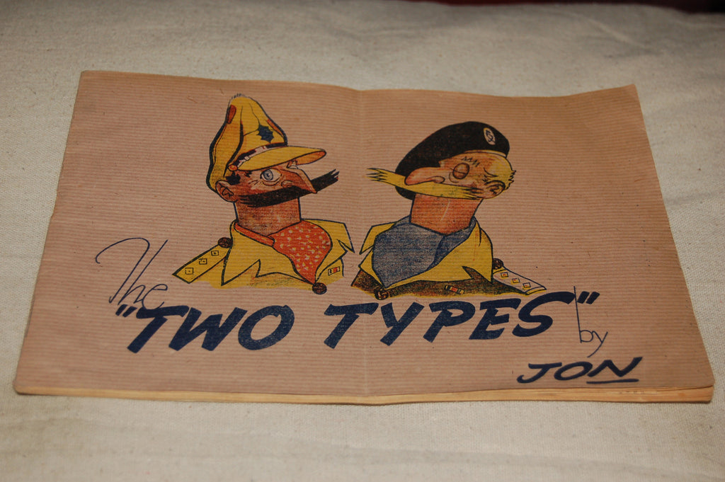British WW2 Cartoons, 'The Two Types by Jon'