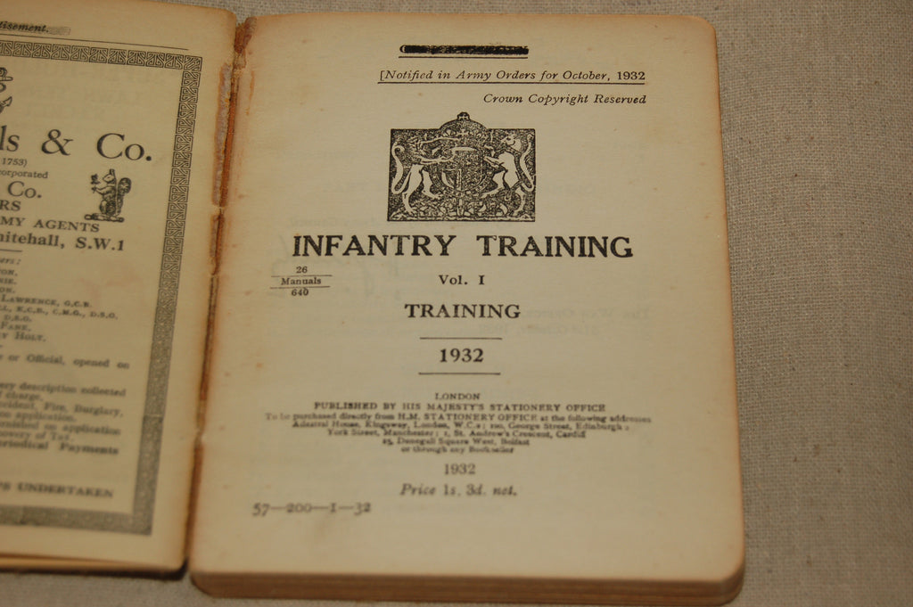 Infantry Training Vol. I Training 1932