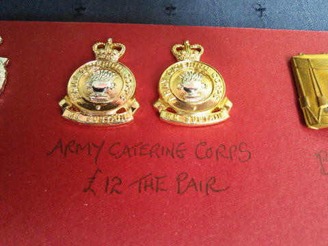 British Army Infantry Collar Badges Army Catering Corps