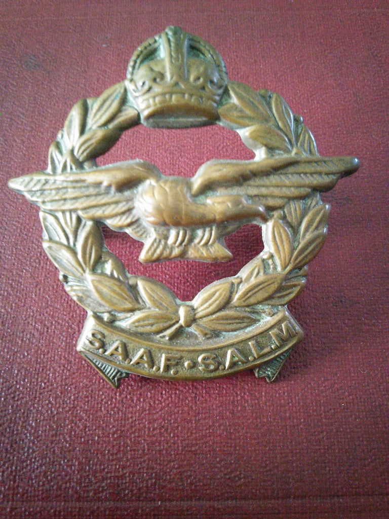 Original WW2 cap badge South Africa Air Force (S.A.A.F.)