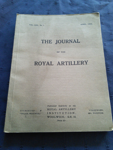 The Journal of the Royal Artillery, April 1935