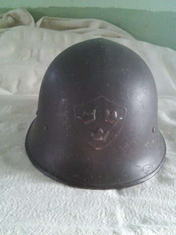 Original complete Swedish Army M1921/18 Infantry Helmet