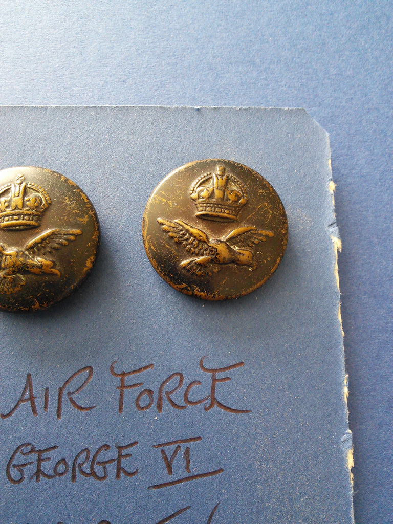 Original WW2 RAF blackened brass tunic buttons