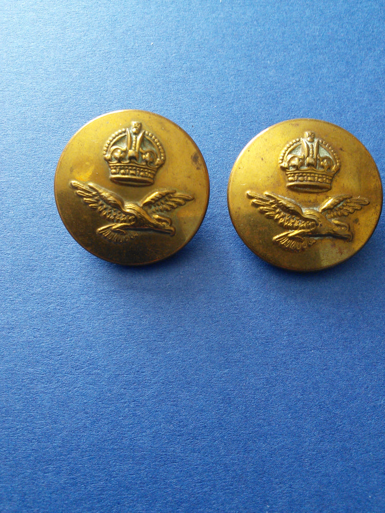 Original WW2 RAF brass tunic buttons