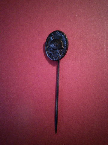 WW2 German Soldier's Wound Badge Stick Pin, Black Award