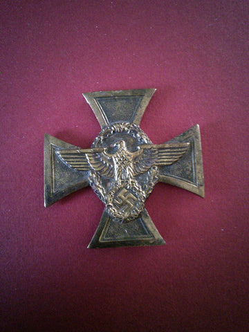 Original German Third Reich Police 25 Year Long Service Medal