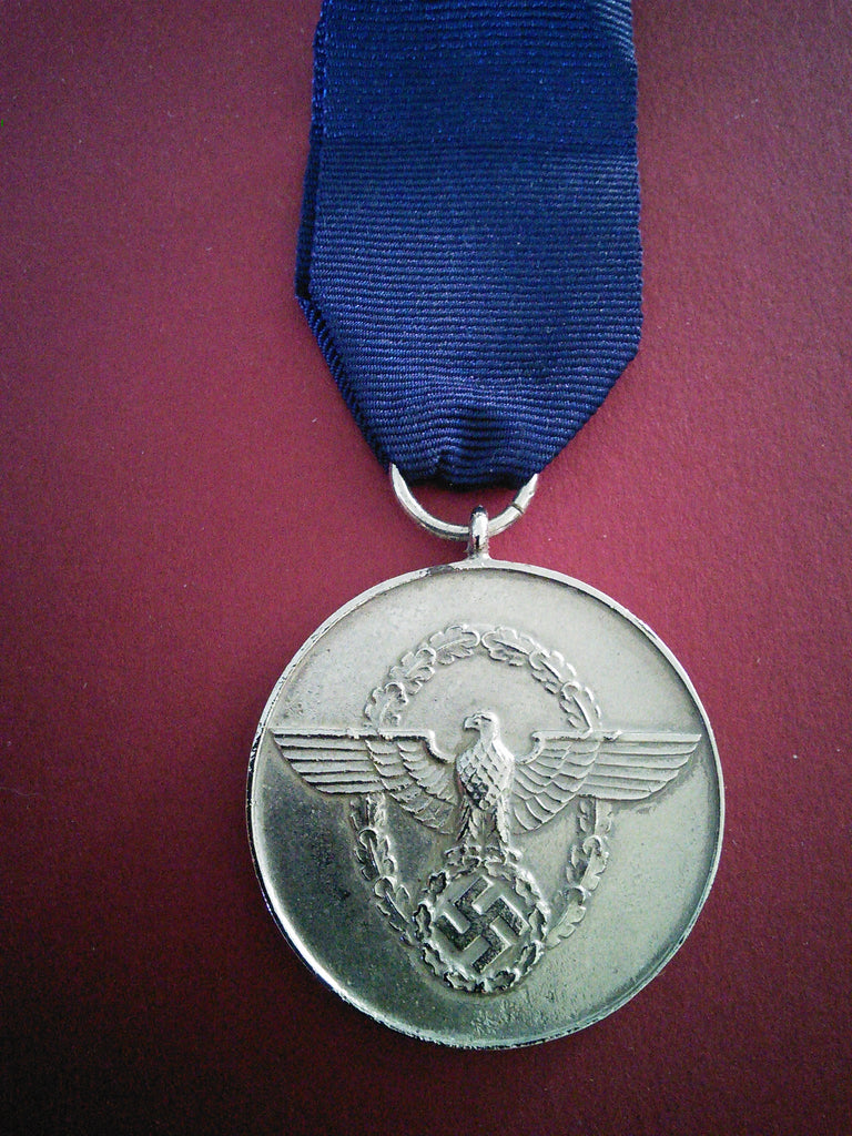 Original German Third Reich Police 8 Year Long Service Medal