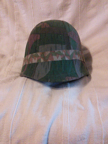 WW2 Swiss Army M1940 pattern helmet with extremely rare wartime cammo. cover