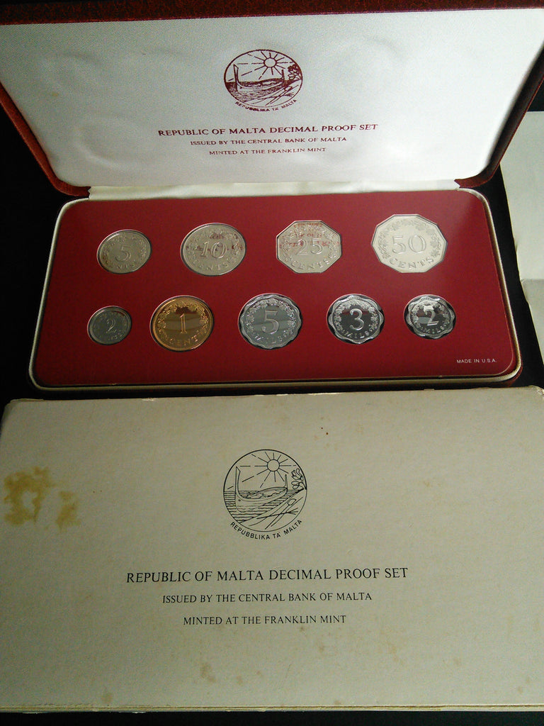 Republic of Malta 1977 Coin Decimal Proof Set