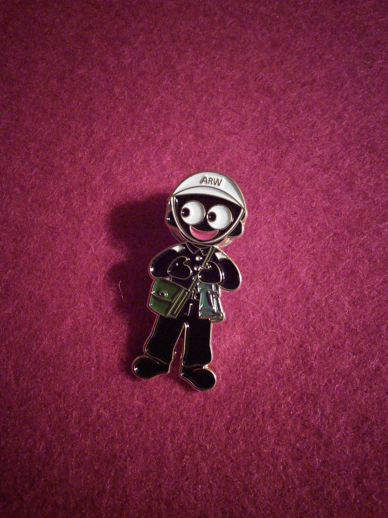 Air Raid Warden Golly Pin Badge