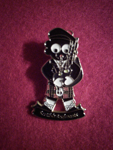 Scottish Regiment Golly Pin Badge