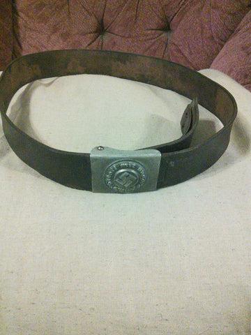 Original Nazi Third Reich Police NCO Belt with Buckle