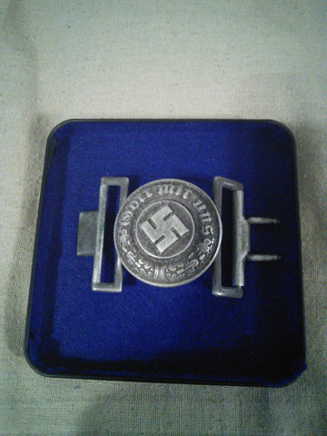 Original Nazi Third Reich Police Officer's Round Buckle