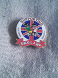 Golly pin badge 'Supporting England'