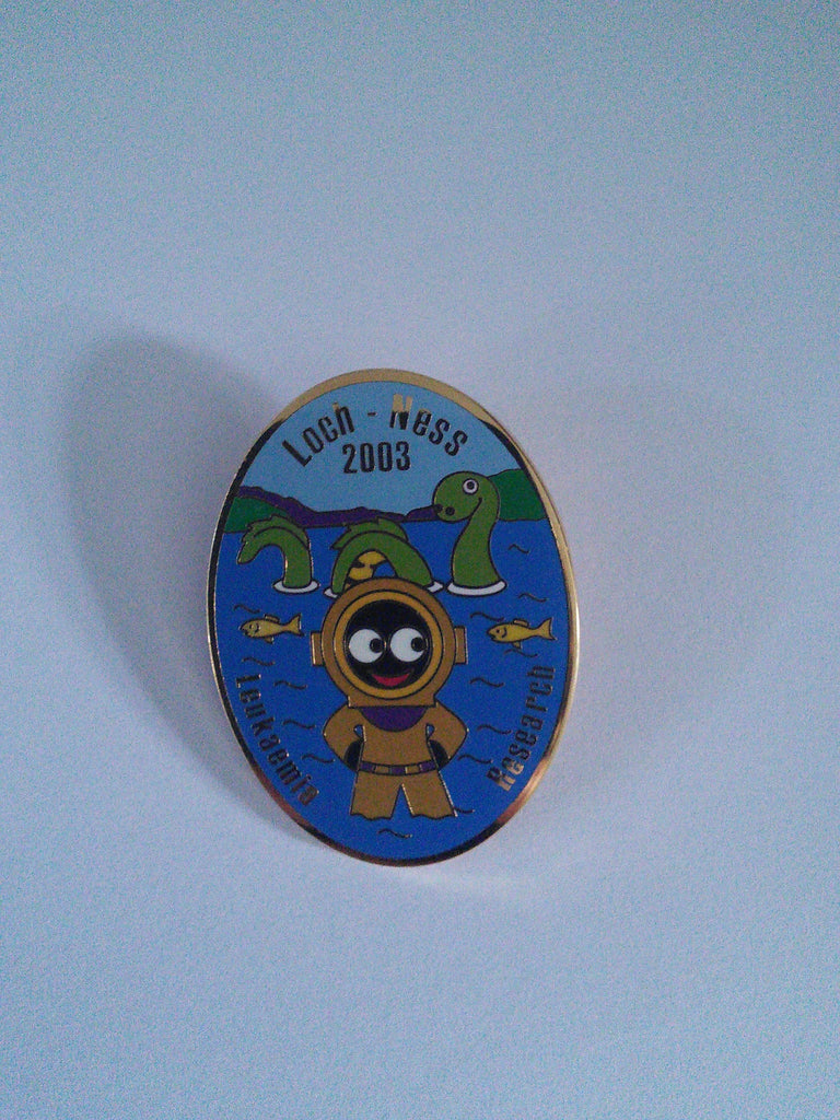 Golly pin badge 'The Lloyd Scott Collection' Loch Ness 2003