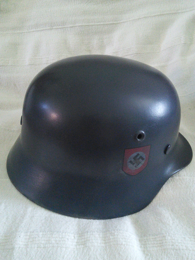Original WW2 German Infantry Helmet M.40 pattern with Nazi Police Decal (copy)