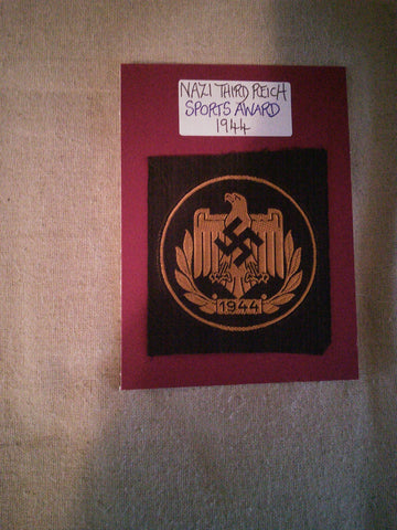 Original WW2 cloth insignia Nazi Sports Award
