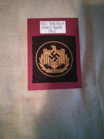 Original cloth insignia German Sports Award 1943