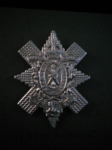 Cap badge Glasgow Highlanders 9th Battalion Highland Light Infantry