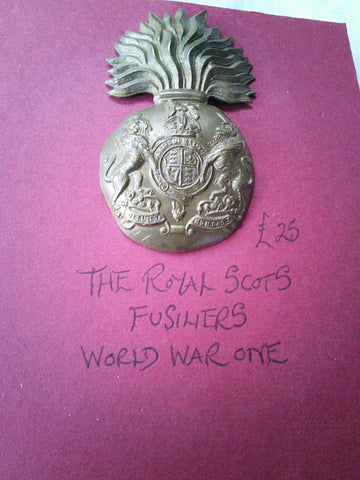 Original WW1 cap badge The Royal Scots Fusiliers